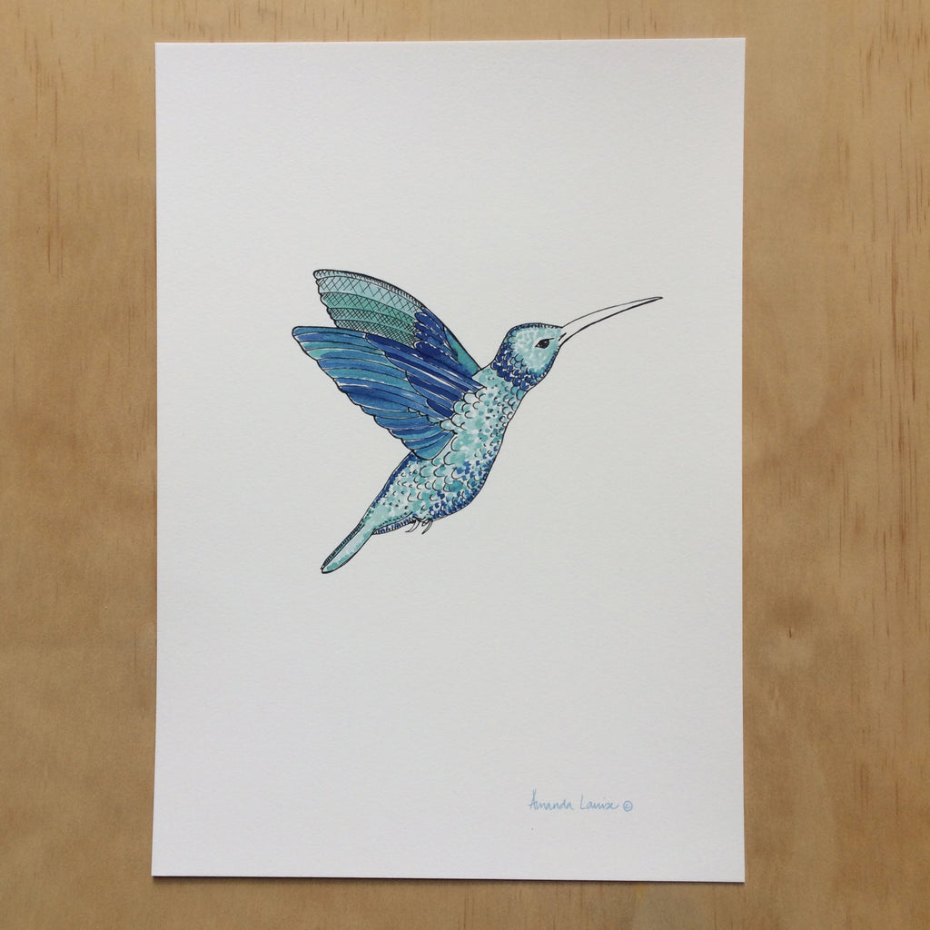 Hummingbird Nature Print A4