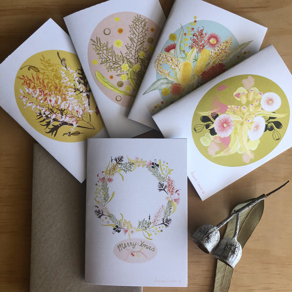 Pink Gum Blossom Greeting Card -Raising money for our Farmers