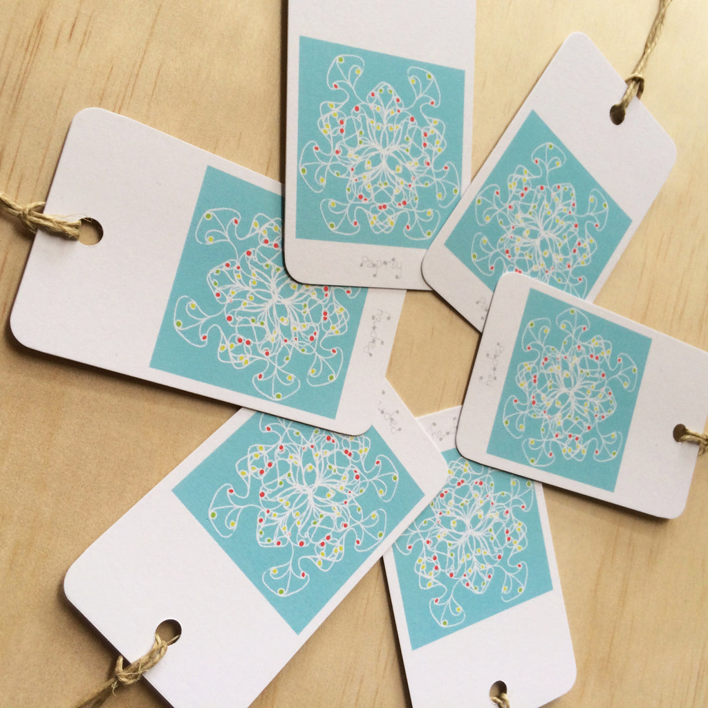 Jewel Squiggles 6 Gift Tags