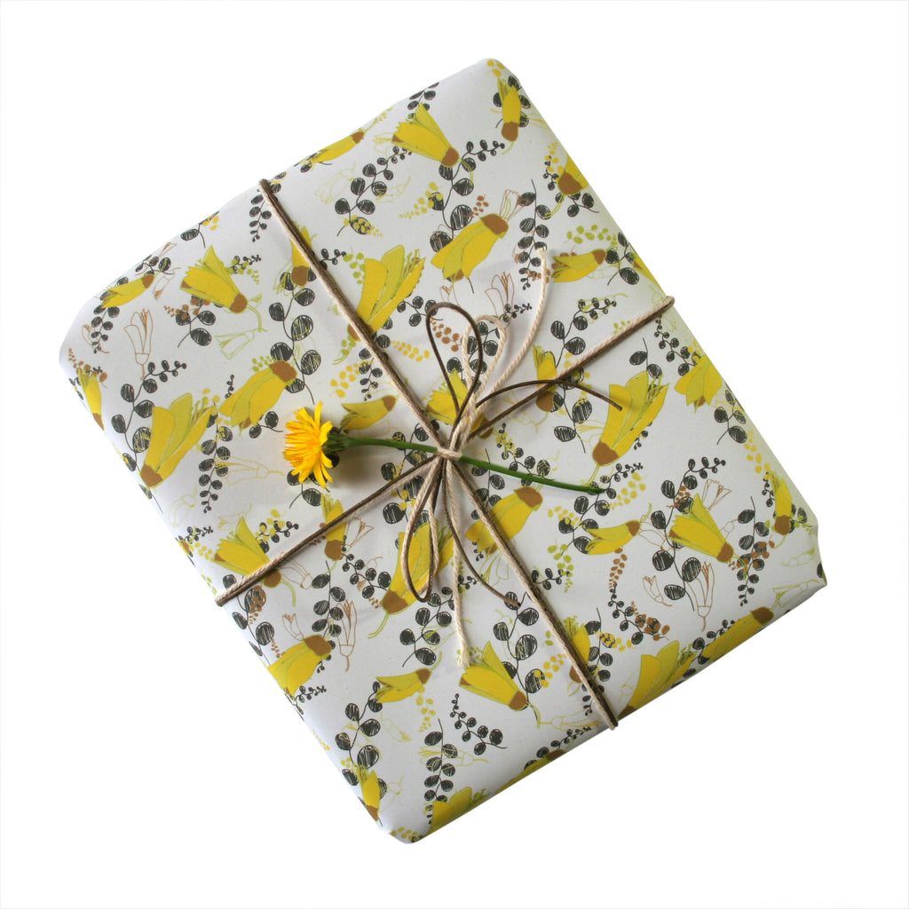 Kowhai Gift Wrapping Paper
