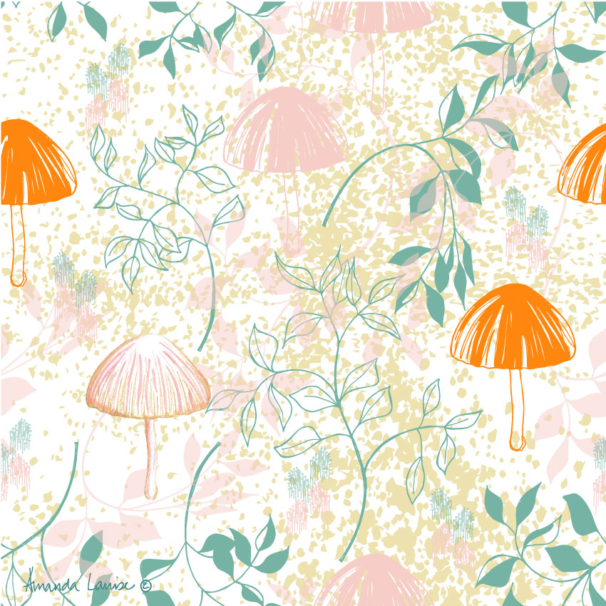 Lilly Pilly Mushroom Wrapping Paper