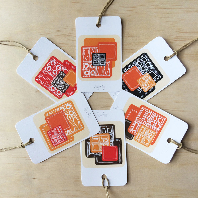Mid Century Mod 6 Gift Tags