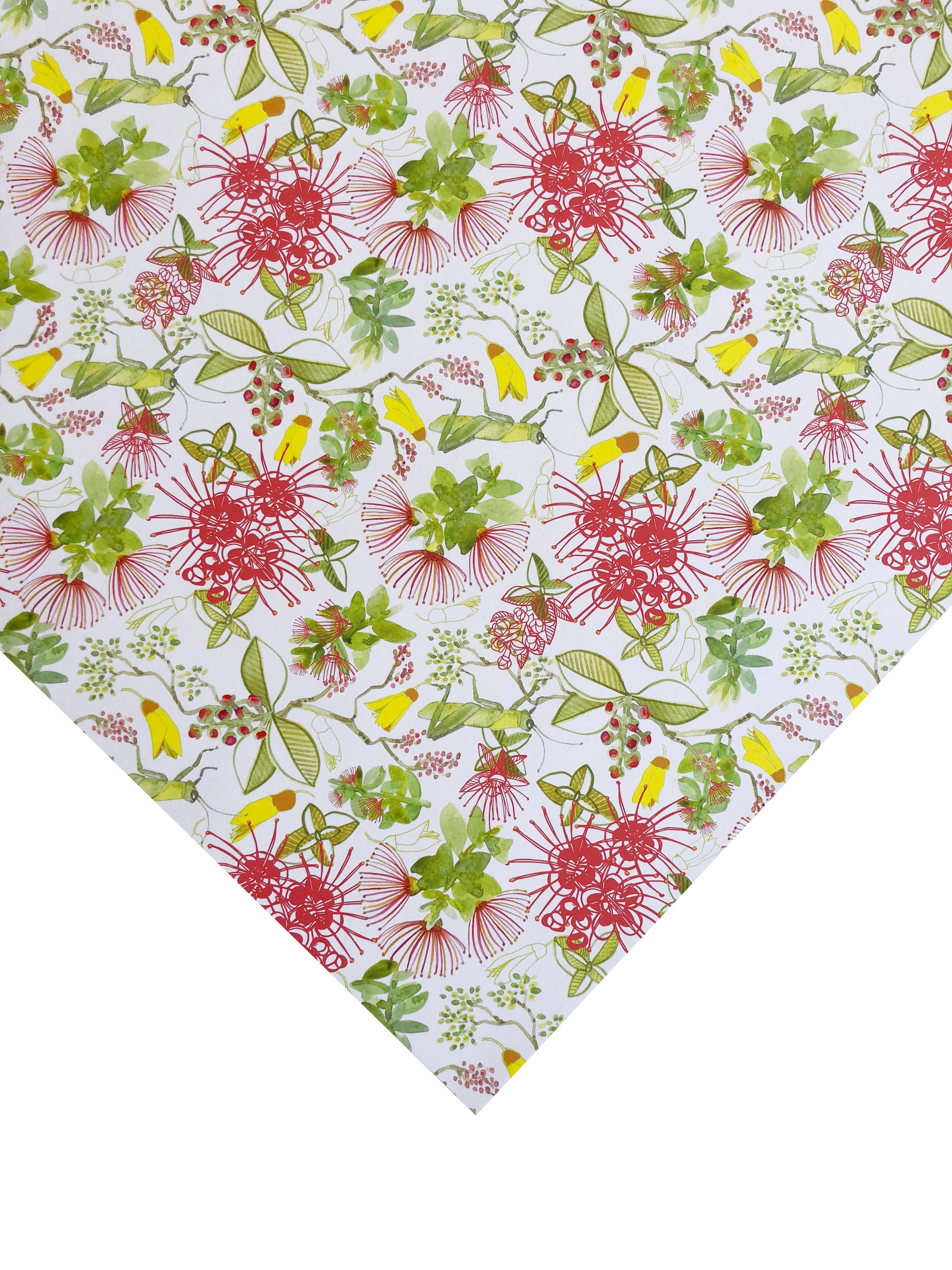 Christmas Floral Gift Wrapping Paper