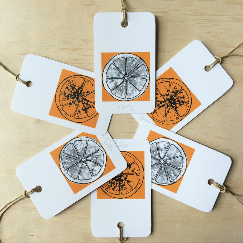 Oranges 6 Gift Tags