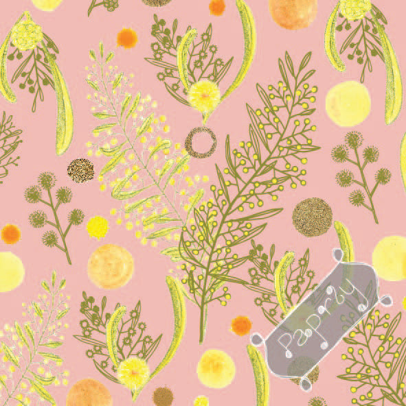 Bush Wattle Gift Wrapping Paper