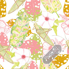 Tropical Grasshopper Wrapping Paper