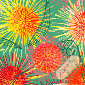 Hakea Fireworks Flower Gift Wrapping Paper