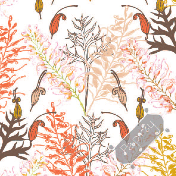Bush Grevillea Gift Wrapping Paper