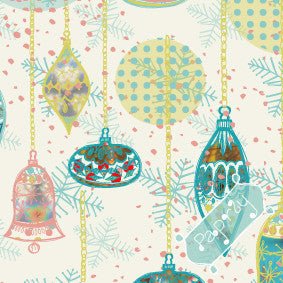 Retro Christmas Baubles Gift Wrapping Paper
