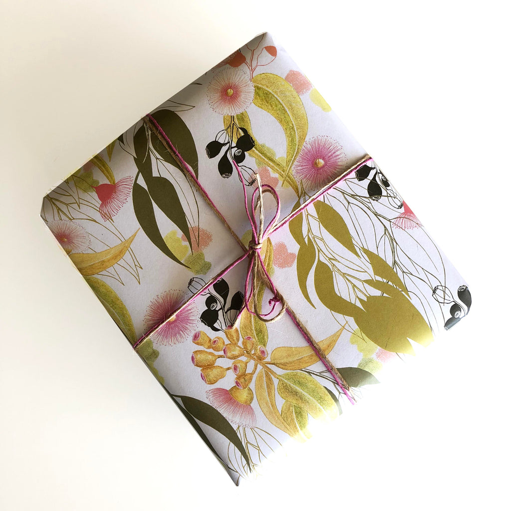 Pink Gum Blossom Gift Wrapping Paper