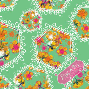 Polyfloral Gift Wrapping Paper
