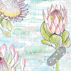 Protea Patch Wrapping Paper