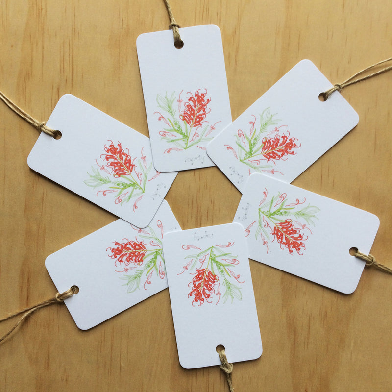 Grevillea 6 Gift Tags
