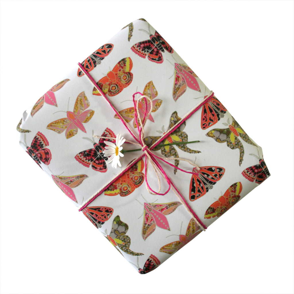 Winter Moth Gift Wrapping Paper