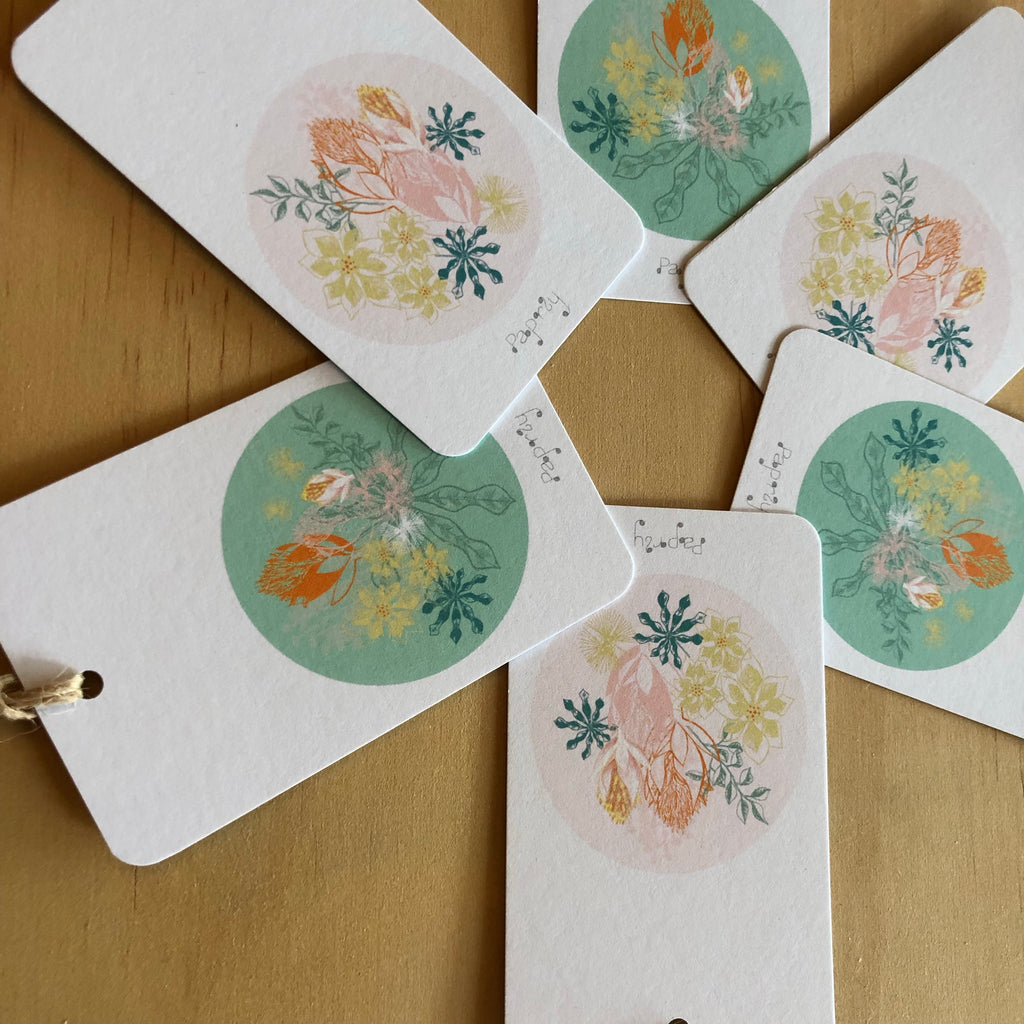 Tropical Bromeliad 6 Gift Tags