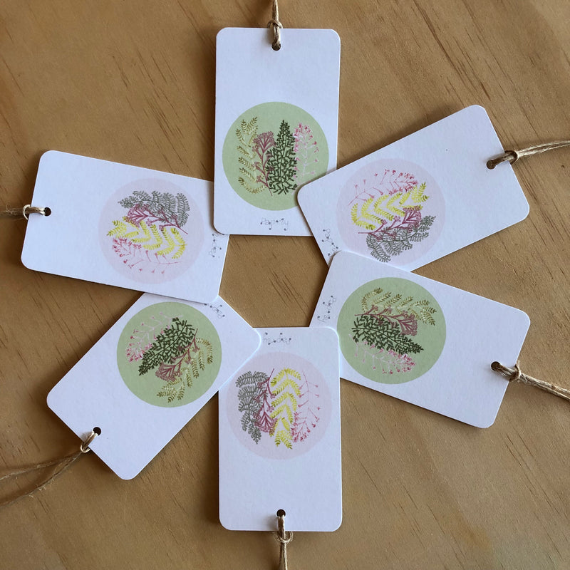 Fern Fan 6 Gift Tags