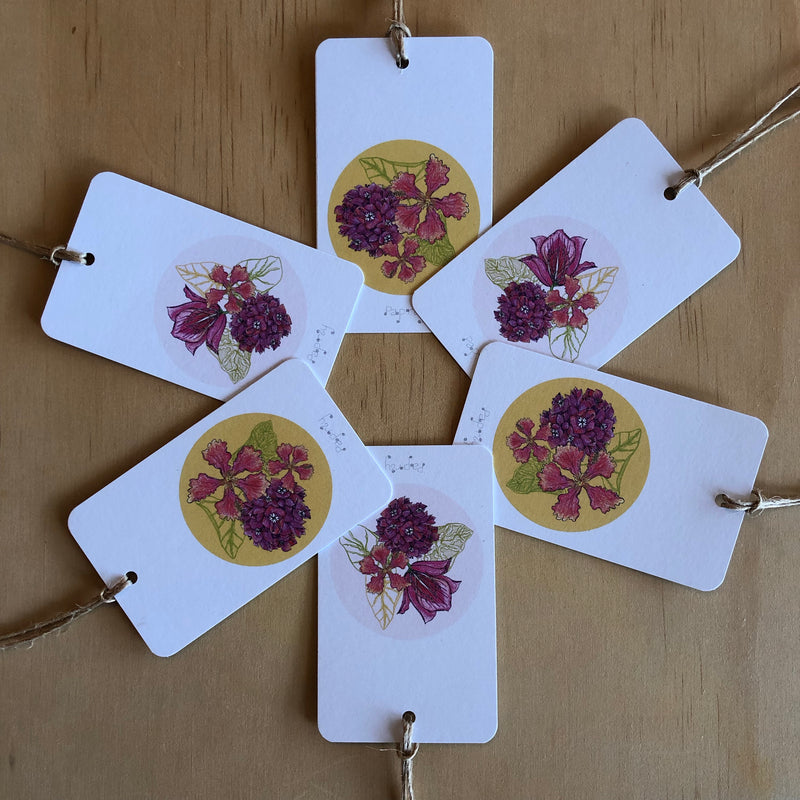 Tropical Bougainvillea 6 Gift Tags