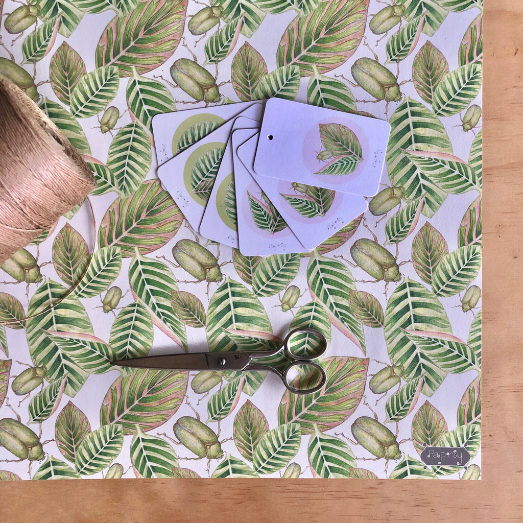 Tropical Beetle Wrapping Paper