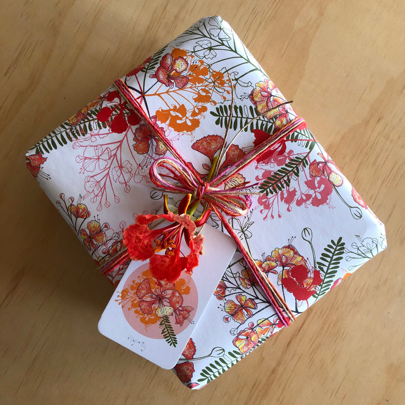 Christmas Poinciana Gift Wrapping Paper