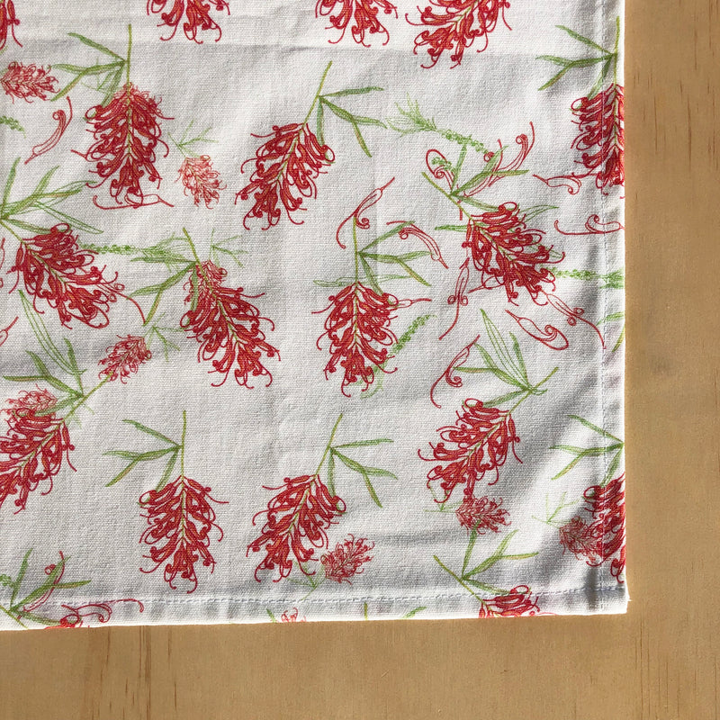 Red Grevillea Tea Towel