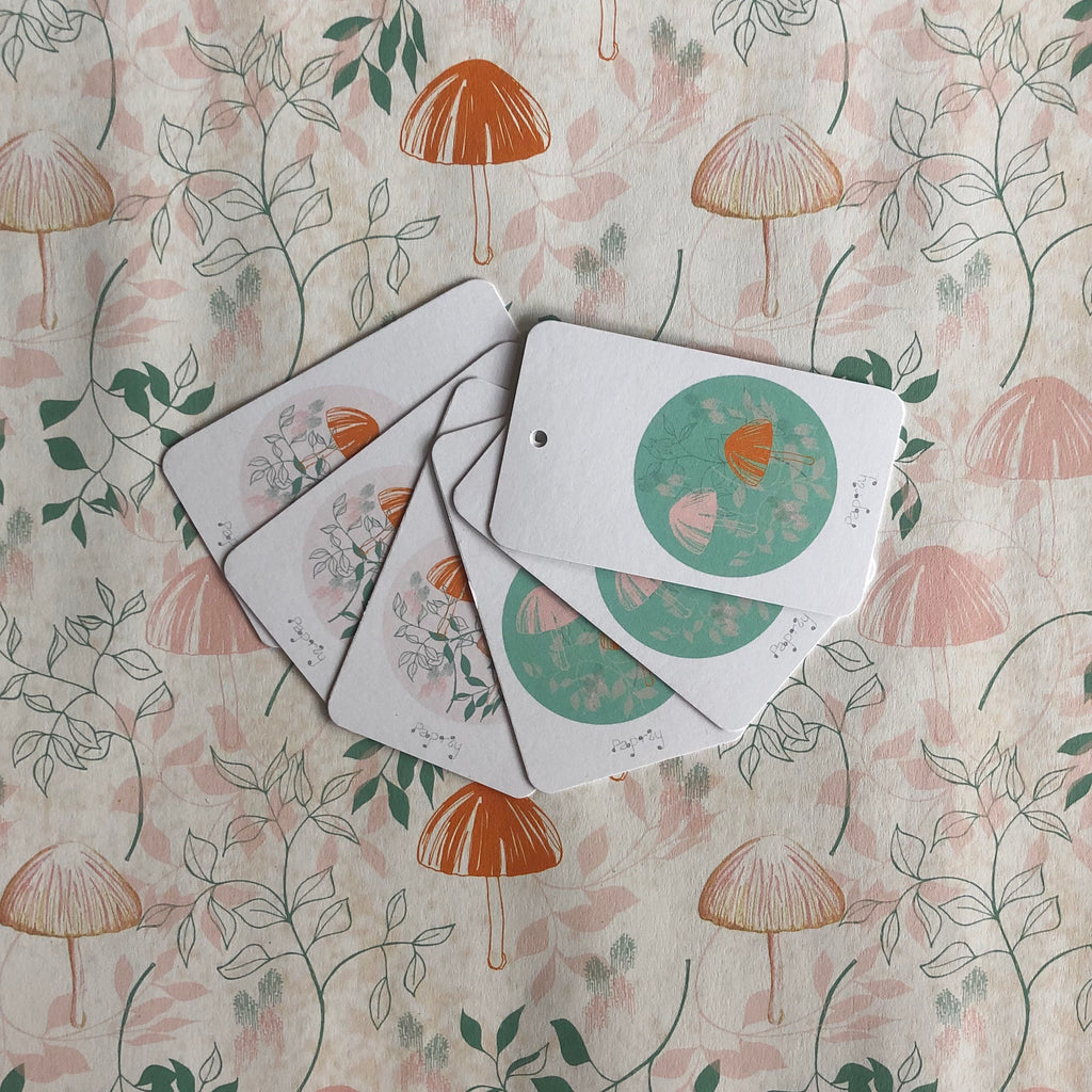 Lilly Pilly Mushroom 6 Gift Tags