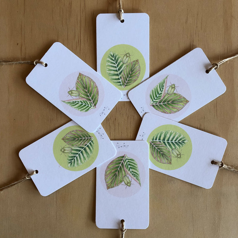 Tropical Beetle 6 Gift Tags