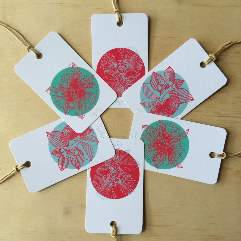 Christmas Bush 6 Gift Tags