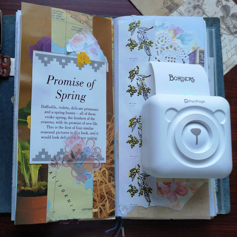 junk journal pages with PeriPage printer