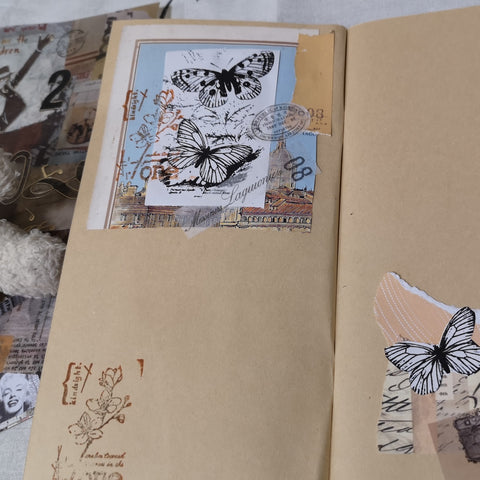 Printed pictures via PeriPage for junk journal