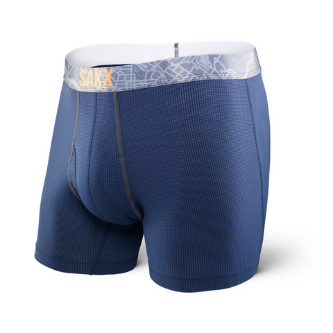 SAXX Quest 2.0 Boxer - Navy/Charcoal