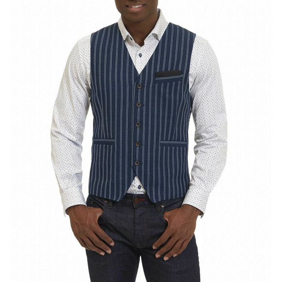 Robert Graham Navy Paresh Vest