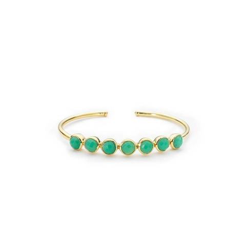 Margaret Elizabeth Rimini Bangle - Chrysoprase