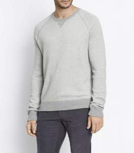 Vince - Crew Neck Sweatshirt - Heather Steel