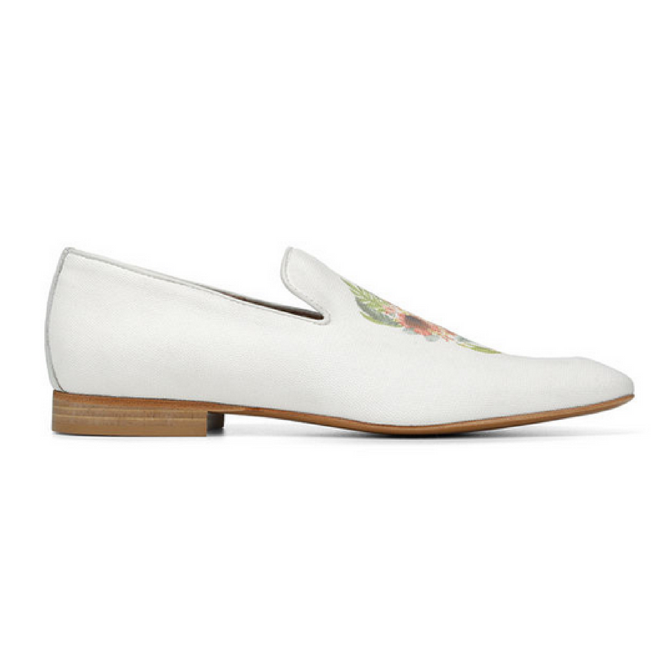 Donald J Pliner - Pazano -Mens Off White Canvas Upper Loafer