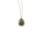 Load image into Gallery viewer, ME Labradorite Teardrop Bali Pendant