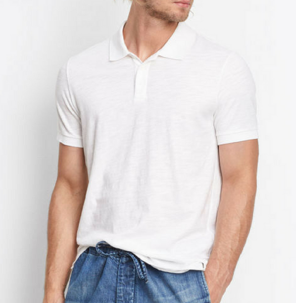 Vince Classic Polo - White