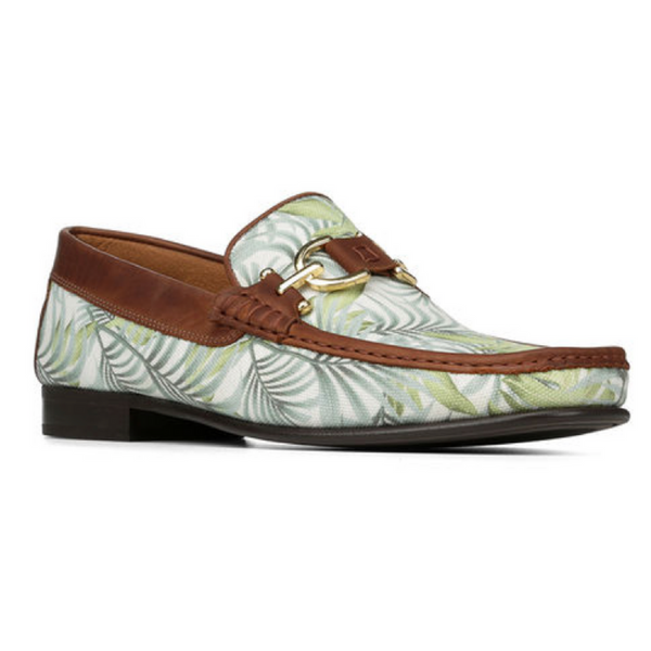 Dacio Printed Canvas Loafer - Leaf