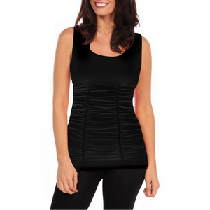 Tees by Tina Black Ruched Tank