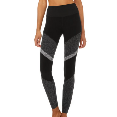 ALO Black/Grey Sheila Alo Soft Legging
