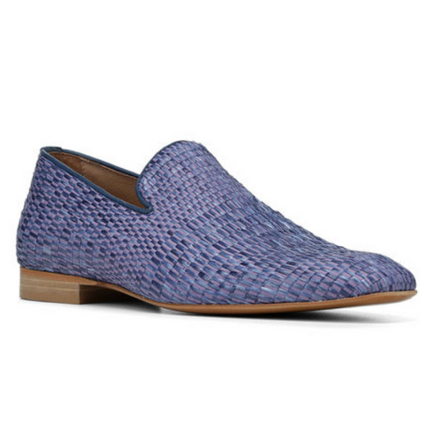 Pazano Straw Loafer - Blue