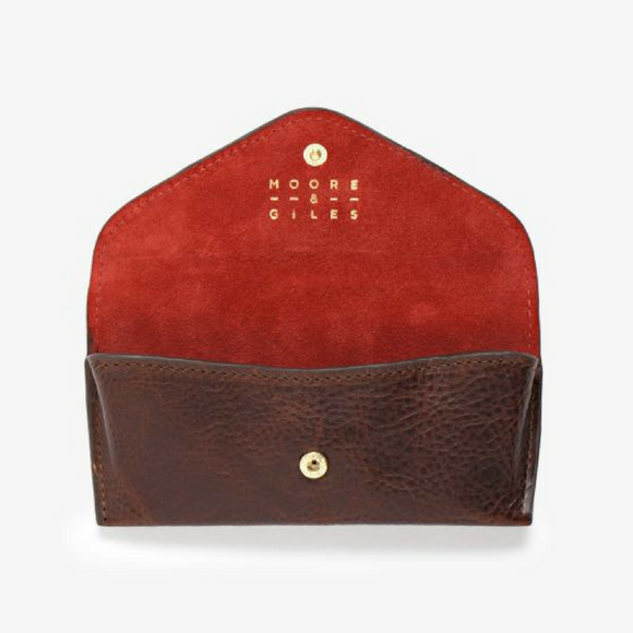 Moore & Giles Brown & Red Eyeglass Case