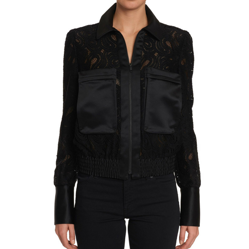 Leandra Lace Jacket - Black