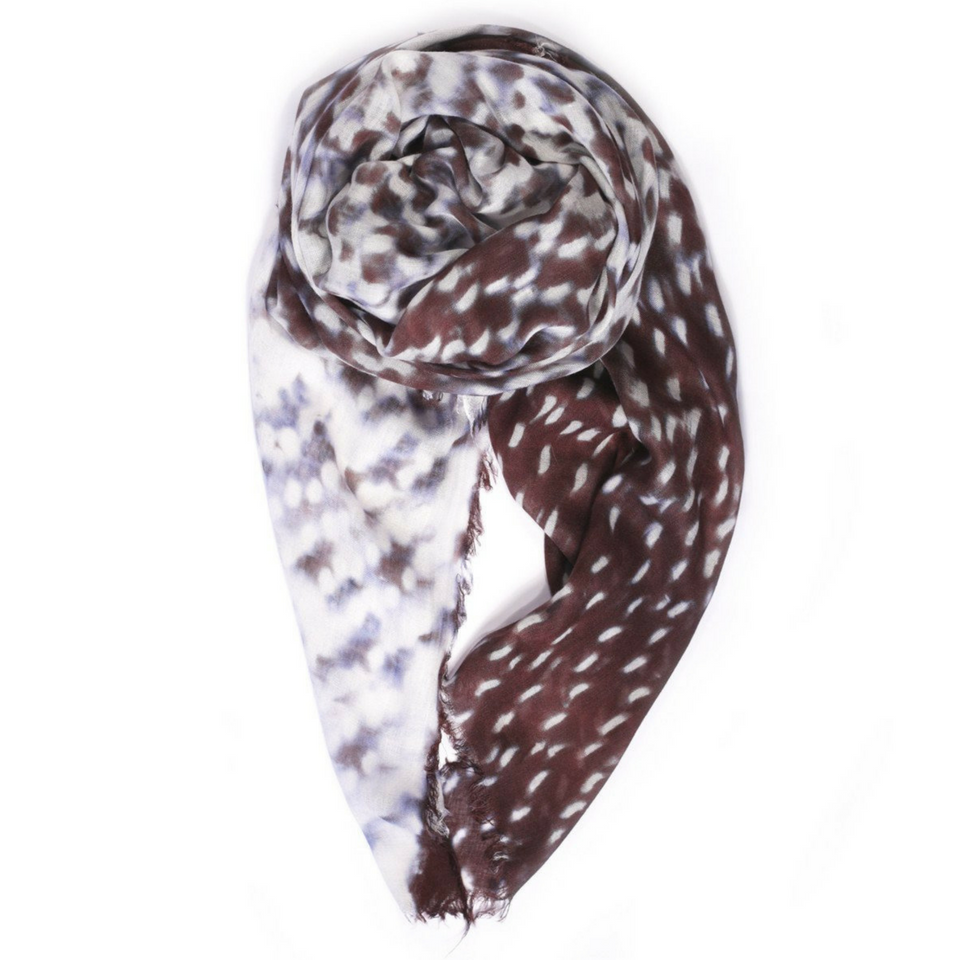 Hyper Space Raw Fringed Scarf - Chocolate