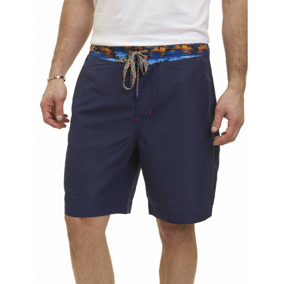 Robert Graham Navy Boundless Swim Trunk
