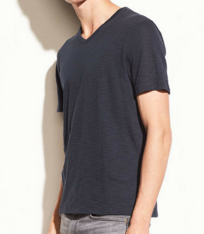 Slub V Neck - Coastal Blue