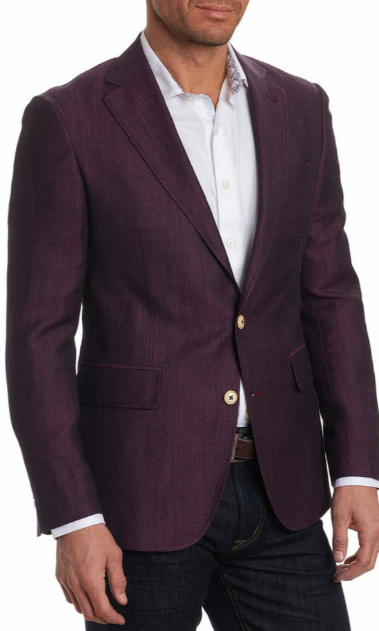 Robert Graham Burgandy On The Road Sport Coat