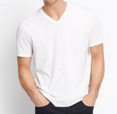 V Neck - Optic White