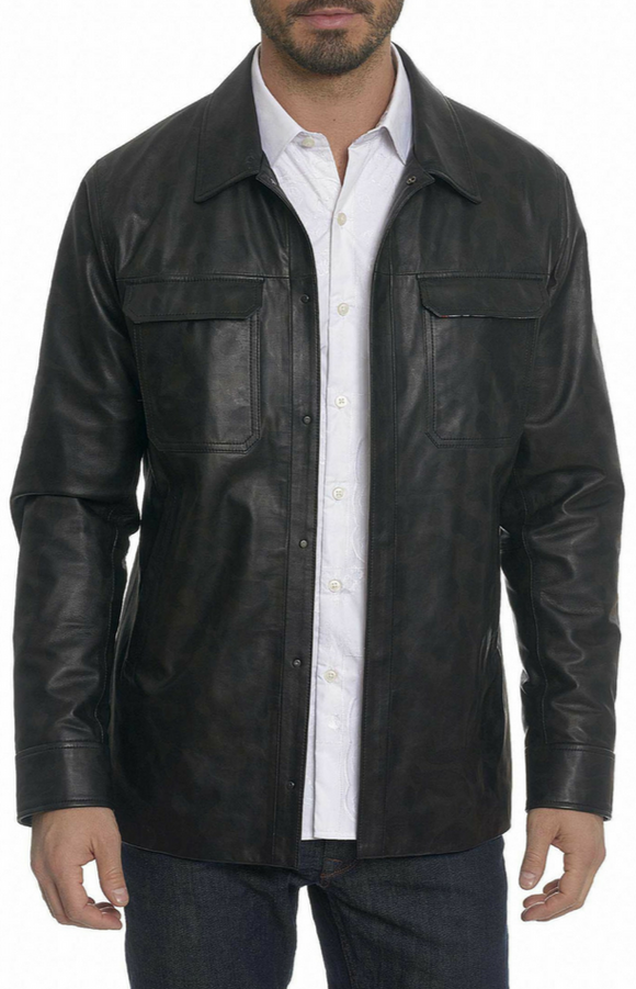 Robert Graham Black  Leather Colden Jacket