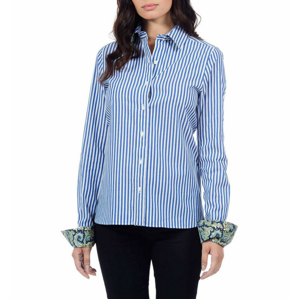 16ca68ba Priscilla - White/Blue Striped. Robert Graham (Women's)