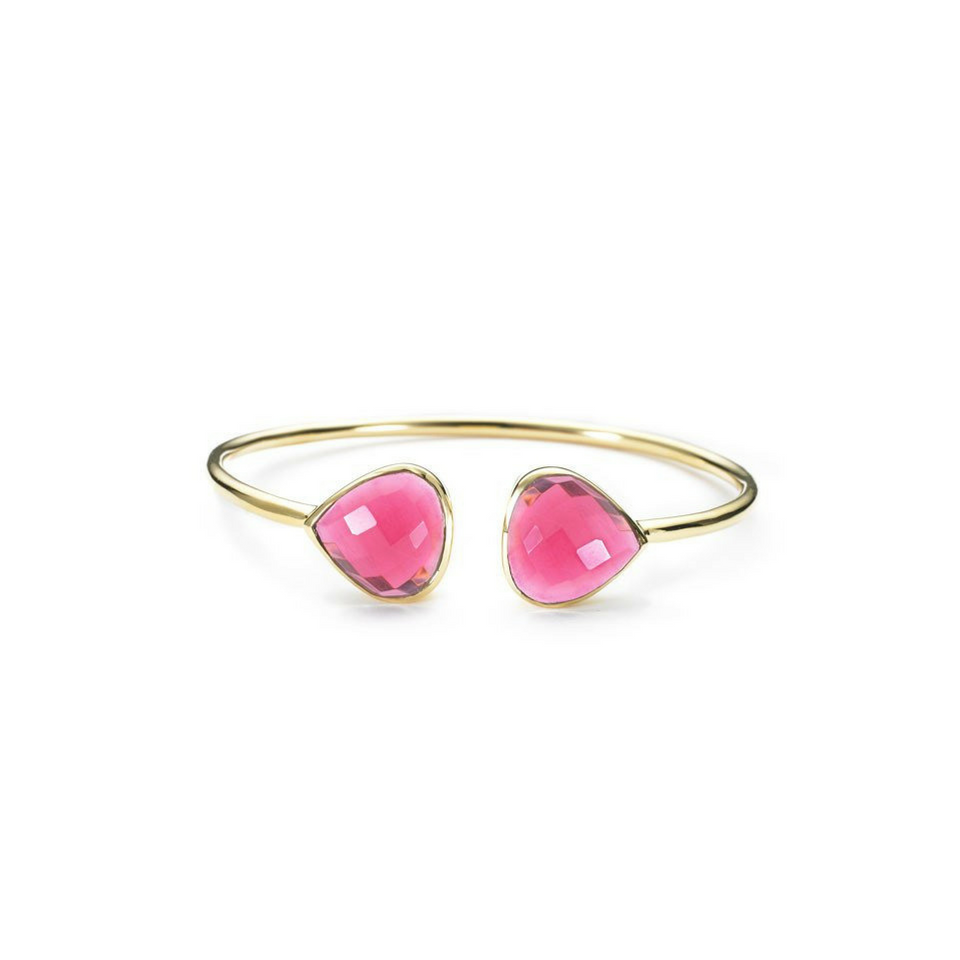 Teardrop Bangle - Fuschia